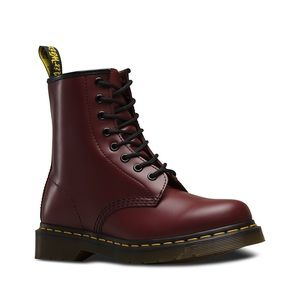 Dr Martens Cherry Maroon Leather Boots